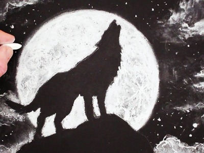 How to Draw a Wolf Howling at the Moon: Step by Step