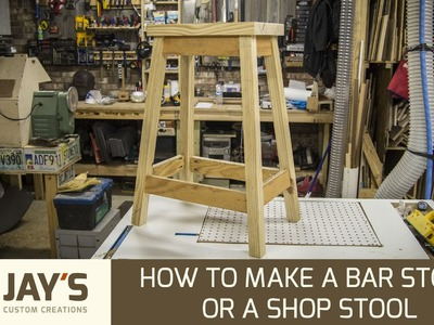 How To Make A Bar Stool or a Shop Stool - 246