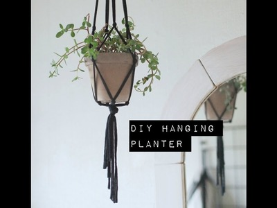 How to make a DIY hanging planter