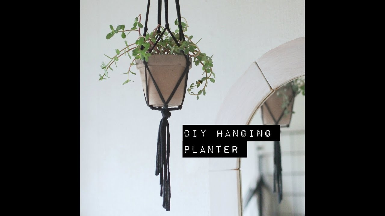How to make a DIY hanging planter