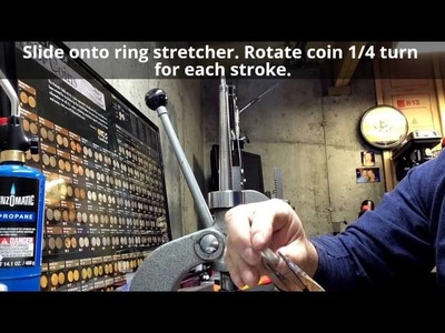How to make a Silver coin ring -  Advanced tools, tips, and methods by Ron Amoling