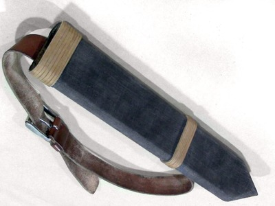 How to Make a Wood Sword Scabbard