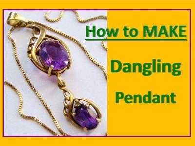 How to make Dangling PENDANT | Liz Kreate