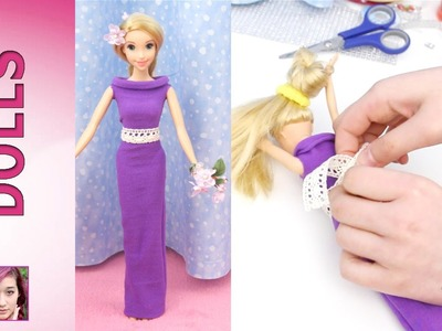 How to make dresses from Rapunzel's Fashion Show Part 1 - Super Easy! No Sew! No Glue!