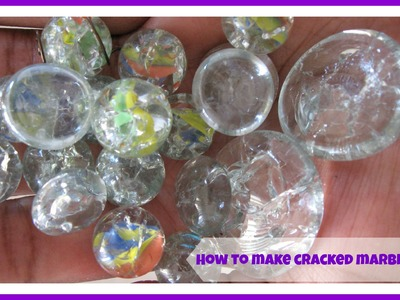 "How to make oven baked marbles ""fried marbles"".  how to make cracked marbles"