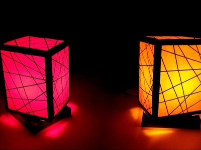 How To Make Simple Night Lamp At Home With Waste Material | HOME INTERIOR DESIGN
