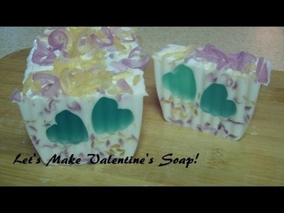Let's Make Valentine's Soap: Leftover Soap Projects (Mini Loaf and Bars)!