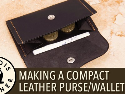 Making a Compact Leather Purse or Wallet