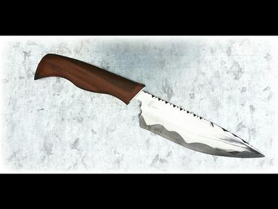 """Making A kitchen Knife """"The Snake"""" - CS Italian Knife Maker"""