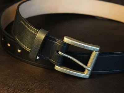 Making a Leather Belt