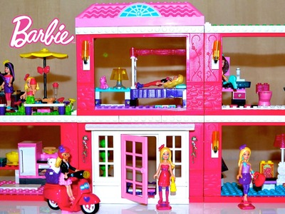 Mega Bloks Barbie Build N Style Fab Mansion with lots Barbie Dolls | TheChildhoodLife
