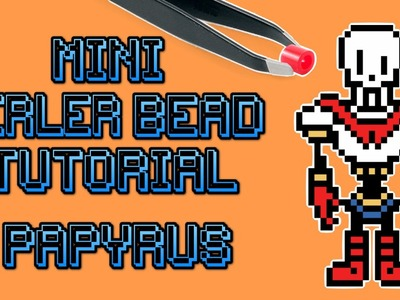 Mini Perler Bead Speed Bead DIY Tutorial - Papyrus Undertale