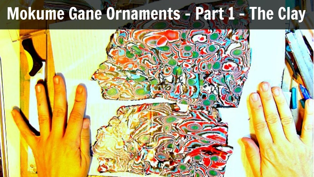 Mokume Gane Polymer Clay Ornament Part 1