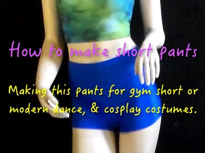 Pants for dancing & workout - How to make dancing costume  video #15