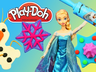 PLAY DOH FROZEN Olaf Cookies Disney Princess Elsa Playdough Food Cookies DisneyCarToys
