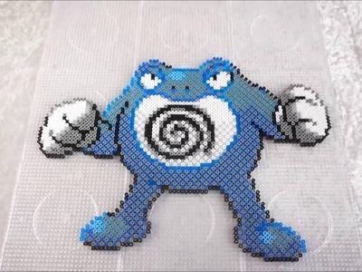 Pokémon POLIWRATH - Hama Beads. Perler Beads