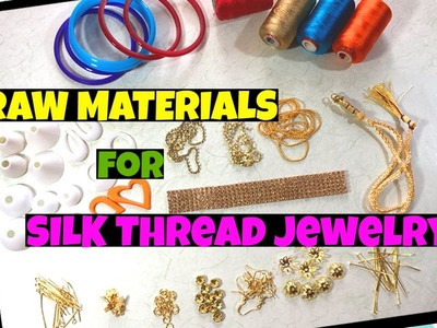 Silk Thread Jewellery Making Supplies | Silk Thread Bangles | Silk Thread Earrings