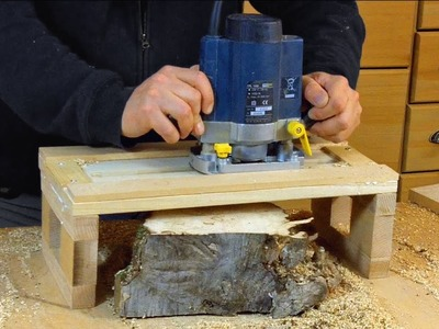 Simple Router Planer Jig - Woodworking. how to