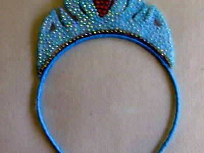 Tiara coroa da ELZA- FROZEN  Passo a Passo -Princess crown