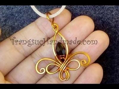 Tutorial Fleur-de-lis pendant - How to make wire jewelery
