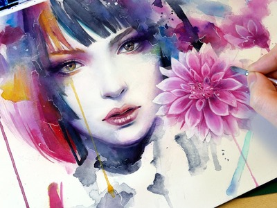 【WATERCOLOR PORTRAIT】 Bloom
