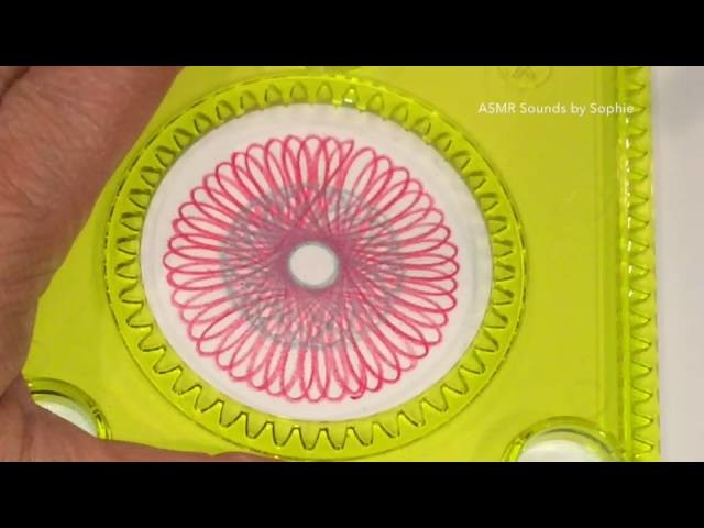 ASMR Spirograph Sampler (asmr, Spirograph, relaxing, no speaking, Youtube, video)