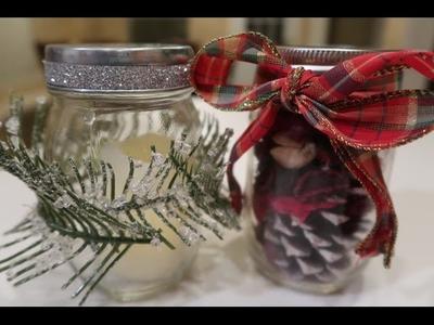 Beautiful Christmas DIY Mason Jar Craft   A Wintergreen Lights and Peppermint Flannel Potpourri Jar!