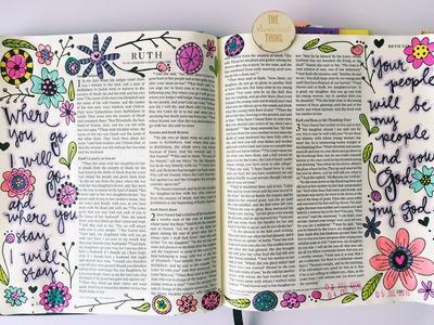 Bible Journaling Flip Through & Process Video
