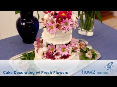 Cake Decorating with Fresh Flowers