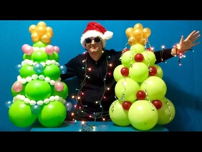 Christmas Tree Balloon Decoration Tutorial!