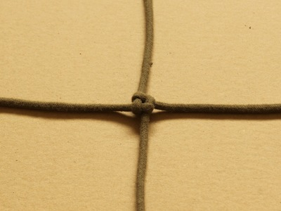 Crown sinnet. square knot - how to tie