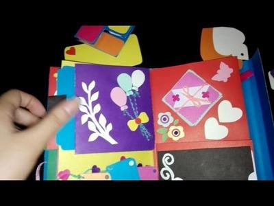 DIY CRAFT PROJECT: Handmade SCRAPBOOK (Birthday, Anniversary and Valentine's Day Ideas)