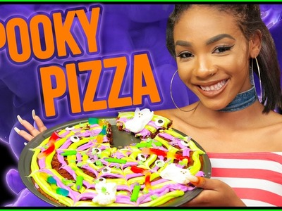 DIY Halloween DESSERT PIZZA?! Slice Slice Baby w. Kellie Sweet