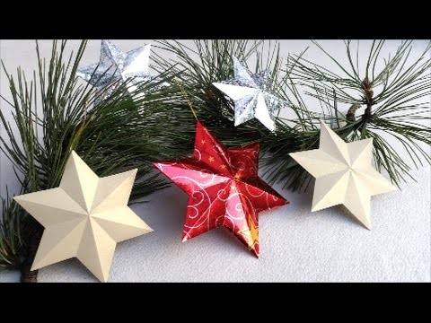 DIY How to make 6 pointed 3D STAR