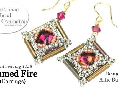 Framed Fire Earrings (Tutorial)