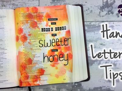 Hand Lettering Tips - Bible Art Journaling Challenge Week 44
