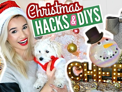 HOLIDAY DECOR DIYS & HACKS YOU NEED TO KNOW!