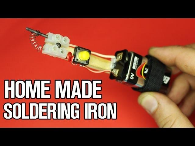 Homemade Mini Soldering  Iron (10sec heat up)