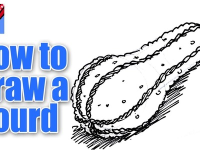 How to draw a Gourd Real Easy -  Spoken Tutorial