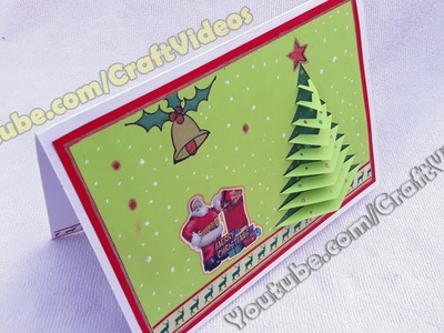 How to make 3D Christmas pop up cards | 3D Christmas Tree Card | Easy | How to make