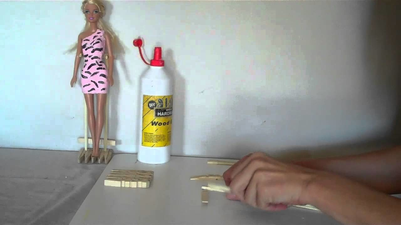 How To Make A Doll Stand Easy - DOLL CRAFTS