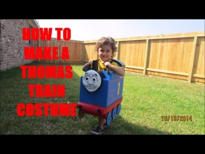 How to make a Thomas train costume- Como hacer un disfraz de tren