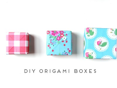 How to make an origami box.