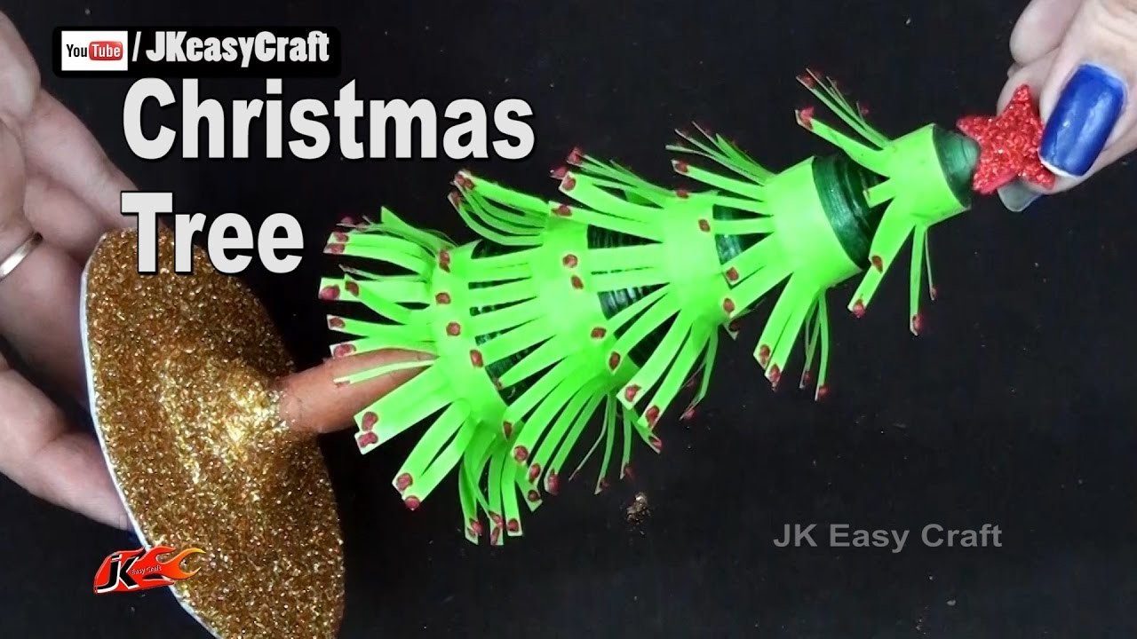 How to make Paper Christmas Tree | Easy Christmas Craft for Kids | JK Easy Craft 207