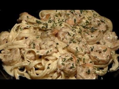 How To Make The BEST Shrimp Fettuccine Alfredo: Homemade Cajun Shrimp Fettuccine Alfredo Recipe