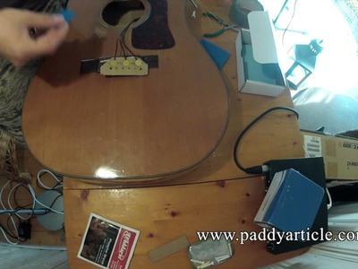 K&K Pure Mini acoustic guitar pickup installation. How to install the K+K Pure Mini.