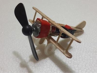 Make a Battery Powered Plane for kids - creative ideas