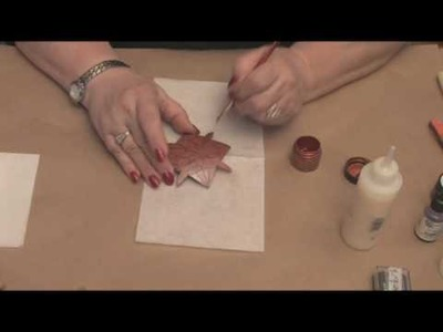Maria Dellos Gourd Art - Protecting Wax - Accent Powder Part 2