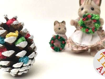 Mini Pine Cone Christmas Tree DIY - Christmas Decor DIY - DIY Christmas Ornaments