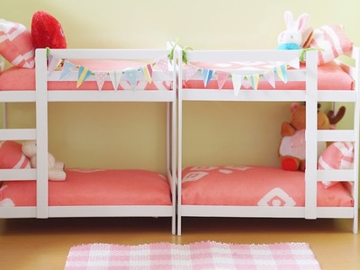 Miniature Bunk Bed Tutorial - Dolls, Nendoroid and Action Figures